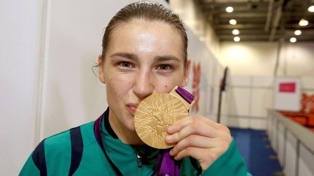 Katie Taylor has won the Best Women's Boxer Trophy at London 2012