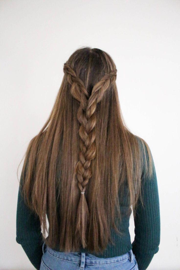 two dutch braids into one hair tutorial | holiday hair inspiration | Love, Hanna…