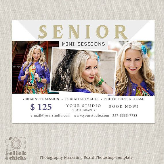Senior Mini Session Template Marketing by ClickChicksDesigns
