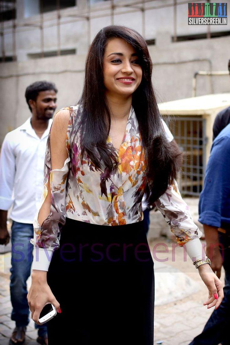 Actress Trisha Krishnan at the Amara Kaaviyam Audio Launch