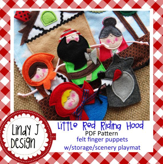 little red riding hood finger puppets 17 best images about tales on anchor 7815