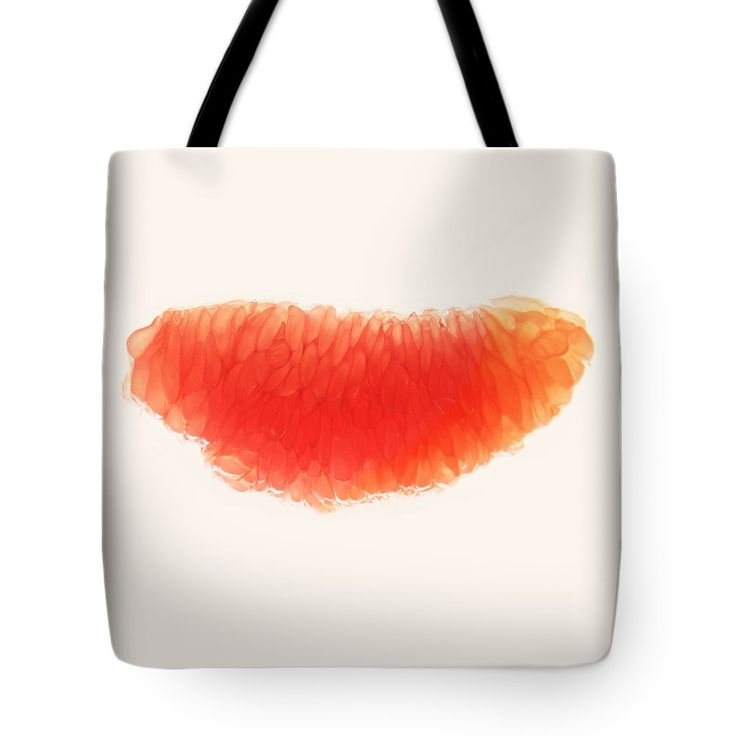 Citrus Smile Tote Bag by Sverre Andreas Fekjan.  The tote bag is machine washable, available in three different sizes, and includes a black…