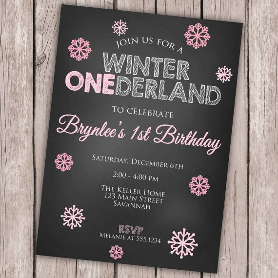 Looking for a cute birthday party invitation for your little ones winter birthday? Look no more!    This listing is for a PRINTABLE digital 5