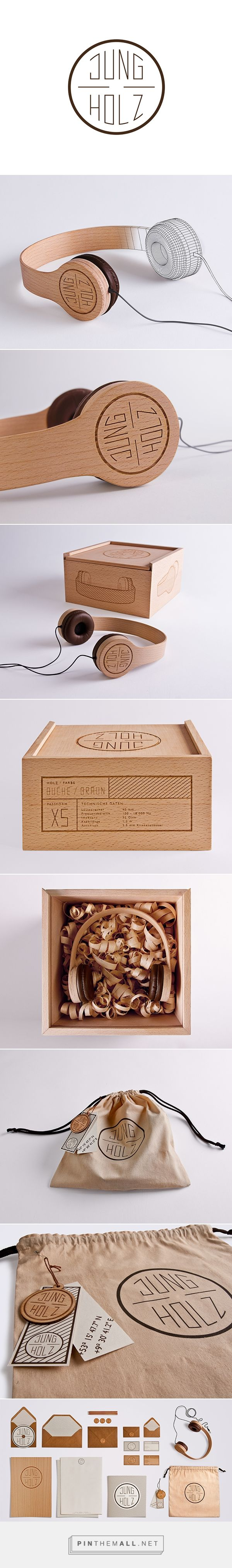 JUNGHOLZ Kopfhörer packaging on Behance by Kristina Düver curated by Packaging Diva PD. New brand created is young and sustainable named JUNGHOLZ which means Young Wood in German. The entire brand sets a statement for the environment.