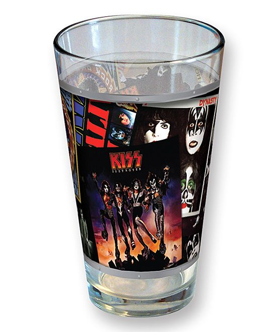 KISS Album Covers Collage Pint Glass
