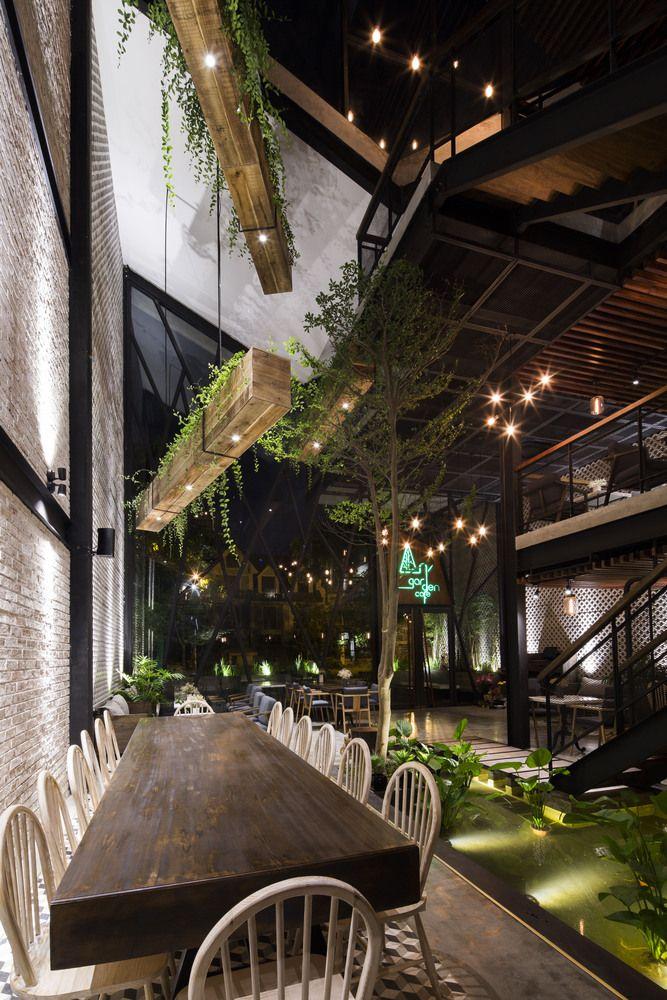 Gallery of An'garden Café / Le House - 17 in 2020 | Garden cafe, Cafe design, Coffee shop design