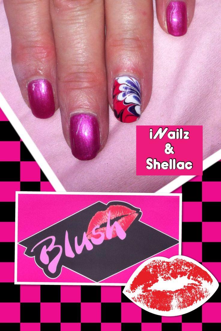 Pink floral design iNailz