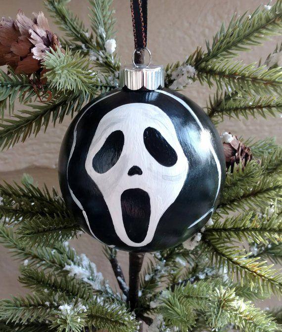 Ghost Face Ornament Scary Christmas Christmas Horror Dark Christmas