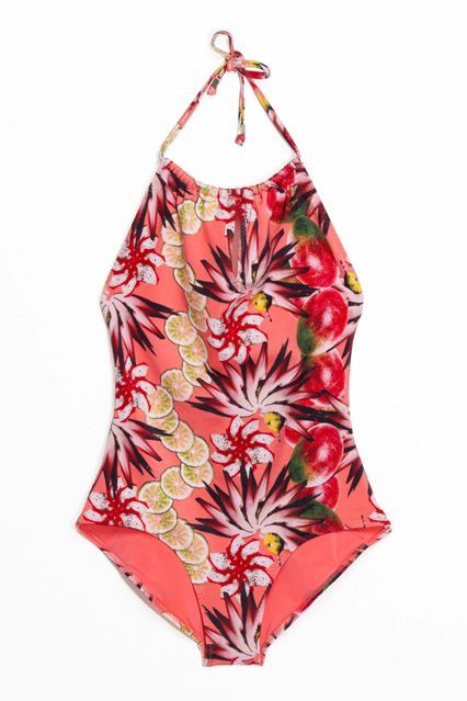 21 Throwback Swimsuits For The Vintage-Obsessed  #refinery29  http://www.refinery29.com/high-waisted-bikinis-retro-swimsuits#slide-13  Fruit prints that are good enough to eat (sort of).