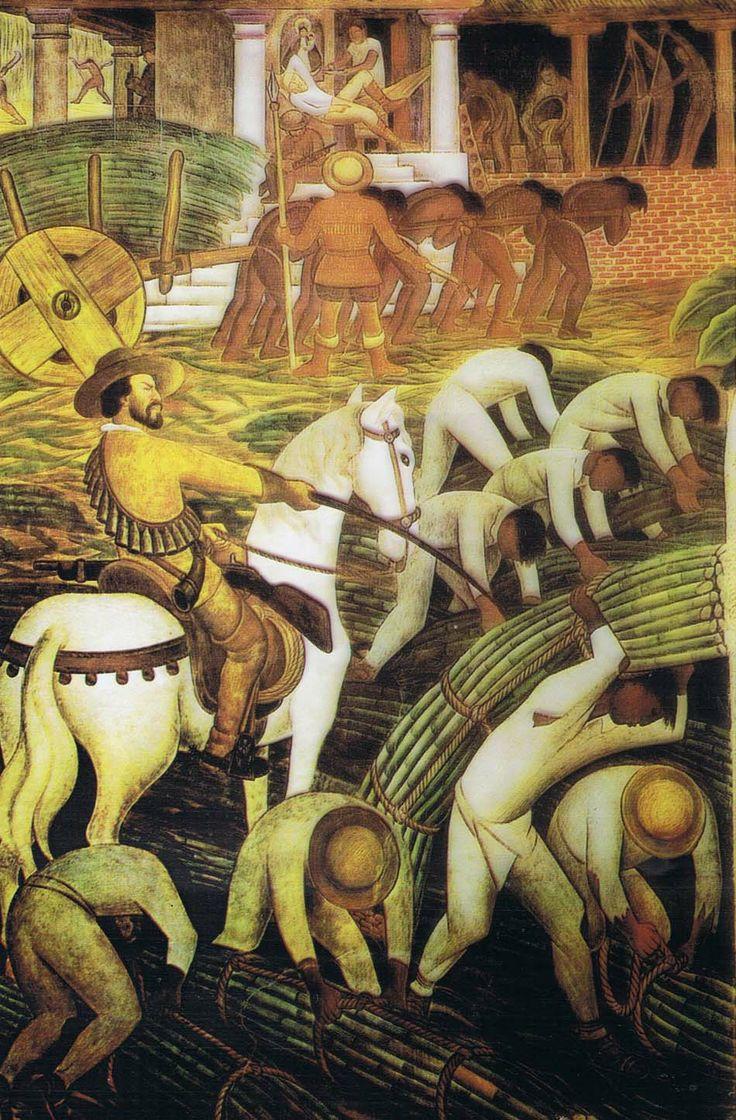 Plantación De Azúcar En Morelos De Diego Rivera 1ère Espagnol
