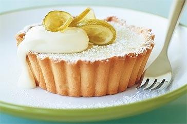 Lime & coconut tarts
