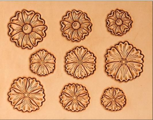 145 best leather tooling patterns images on pinterest for Leather flowers for crafts