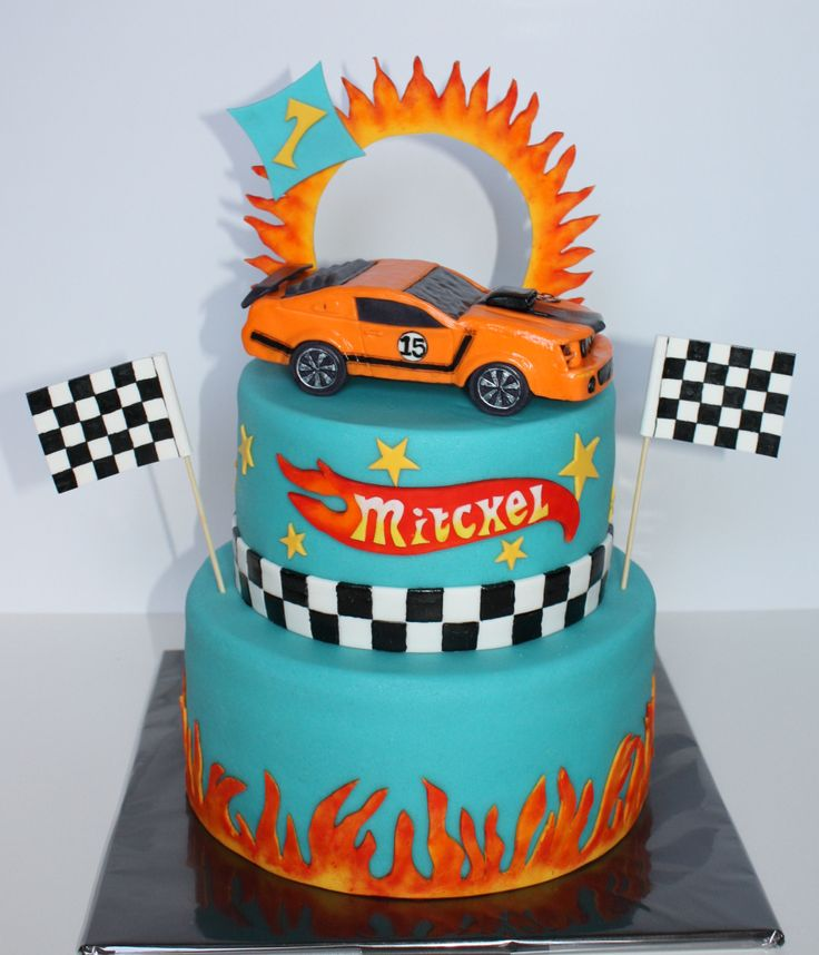 Mustang Hotwheel Taart / Mustang Cake
