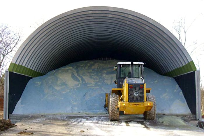 Our list of salt storage building clients includes TDOT (Tennessee Department of Transportation), ALDOT (Alabama Department of Transportation) and PennDOT (Pennsylvania Department of Transportation)