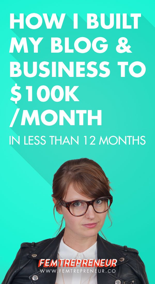 2015 Business Review: How I Built My Blog and Business to $100k/month in Less Than a Year (Month By Month Breakdown) | Femtrepreneur