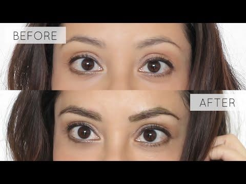 How to Tint Your Eyebrows at Home Tutorial | LynSire - YouTube
