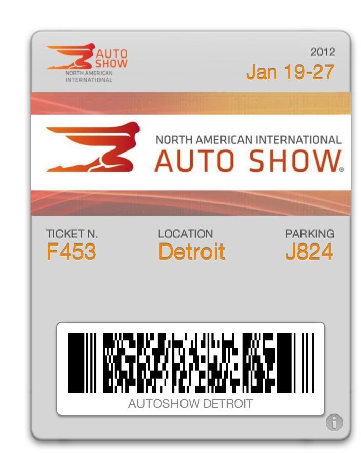 Passdock: AUTOSHOW event ticket for passbook