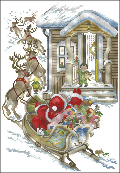 Mikołaj w saniach