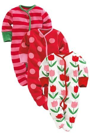 6-9 mth Buy Tulip Sleepsuits Three Pack (0mths-2yrs) from the Next UK online shop