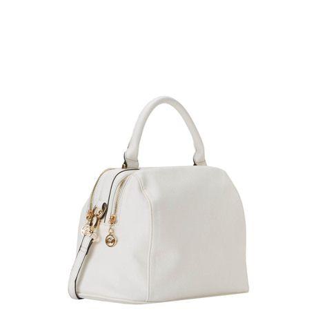 Handbag in white.