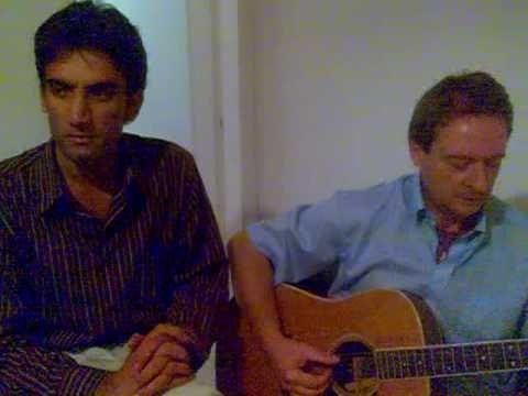 Italian Guitarist Amos with a upcomig PAKISTANI singer Waseem.
