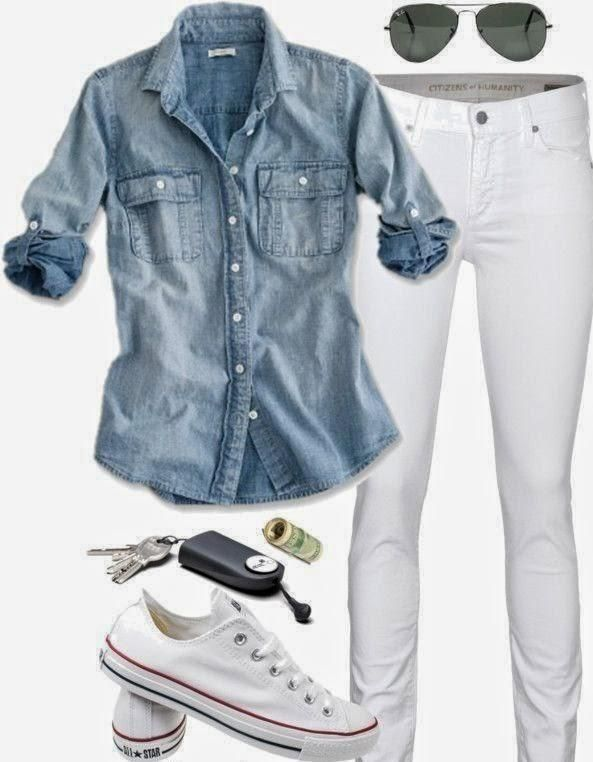 ¿Como combinar un pantalón blanco?                                                                                                                                                                                 Más