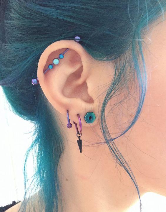 Ms de 25 ideas increbles sobre Piercings oreja en Pinterest