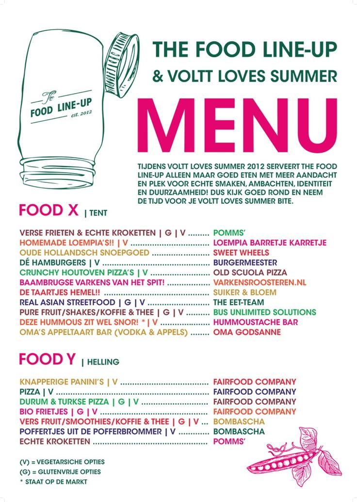 THE FOOD LINE-UP & VOLTT LOVES SUMMER MENU ©