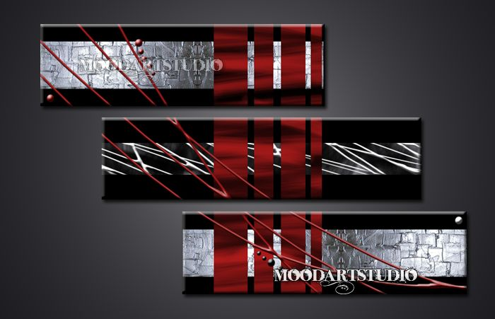 Cuadro pintura en relieve rojo y plata http://www.moodartstudio.es/cuadros-abstractos/44-cuadro-texturizado-rojo-negro-plata-.html