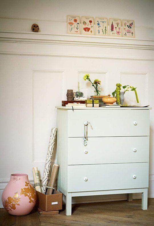 1 IKEA TARVA Dresser, 25 Different Ways | Apartment Therapy - Mint green dresser from Livet Hemma