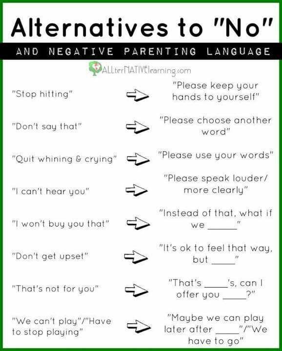 "Progressive alternatives to saying ""No"" to children"