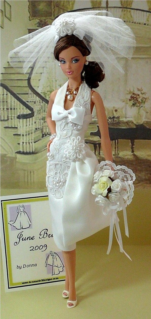 Bridal Barbie. Love the PJSteffie face mold!