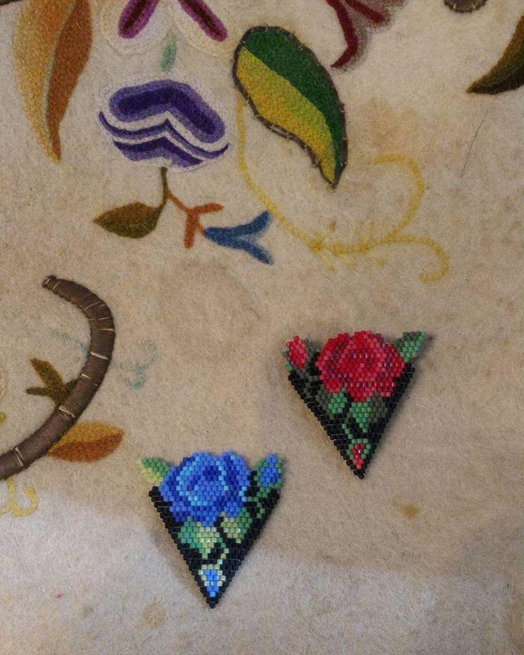 Mavilim maviselimmm #elelesanat#handesanat#miyukibeads#blue#elemeği#rose#sunum#flowers#jewellery#etsy#gift#like4like#love#instadaily#instago#cute#cool#women#hobby#handmade#istanbul#