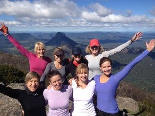 Mt Barney - they came, they saw, they conquored!! #mtbarneylodge @wildwomenontop