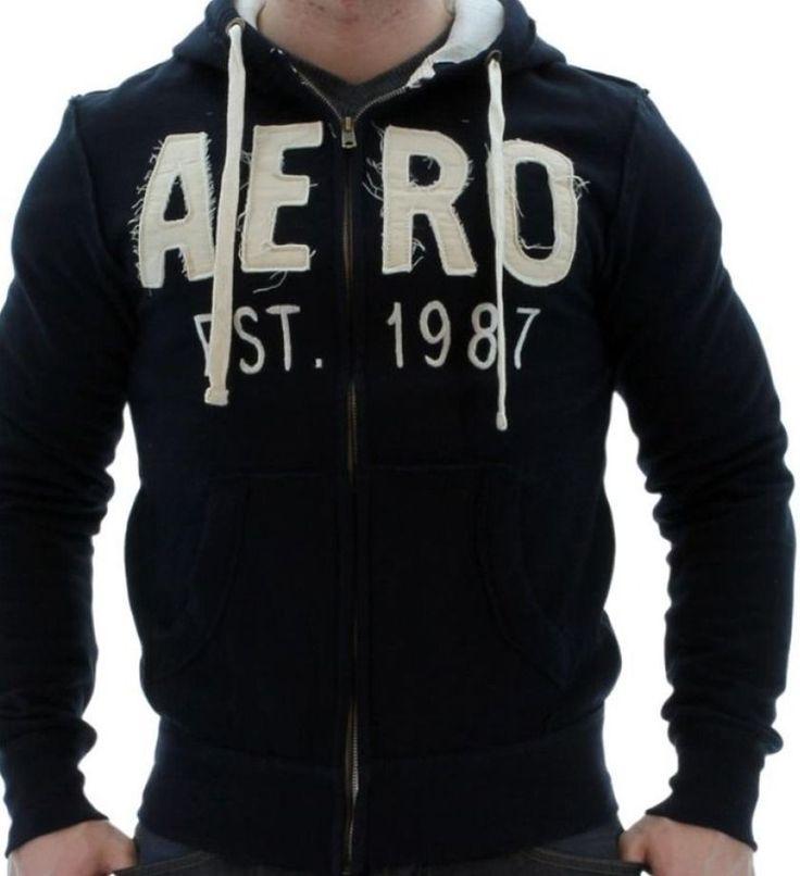 HOODIE Aeropostale Men Hoodie Navy Blue  EST 1987 Men Fashion  Size: Large #APC #Hoodie
