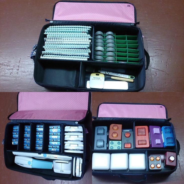Amazing ways to organize your cricut cartridges, border maker system, and punches with the Creative Memories Tools Organizer. The New Color is blue. Click on photo to order your own. *Please note the green divider with cricut cartridges was made of thick plastic canvas. *