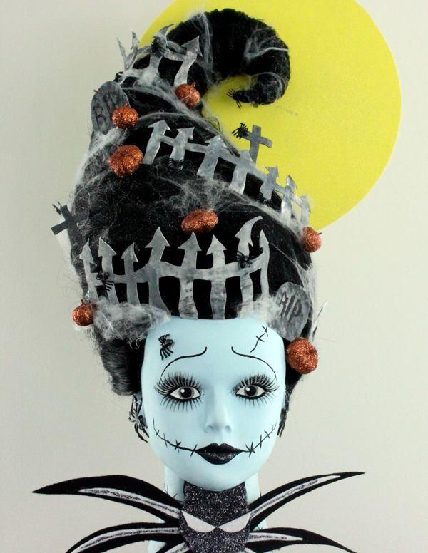 OOAK Barbie Halloween/Frankenstein/Nightmare Before Christmas - Hairstyling by Cassandra Lloyd