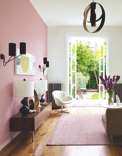 Pink Accent Wall best 25+ pink walls ideas on pinterest | retro bedrooms, retro