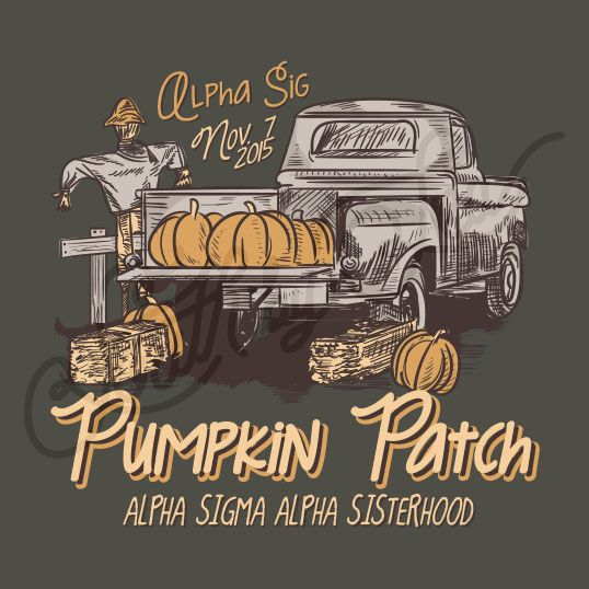 Sorority Social Alpha Sigma Alpha Pumpkin Patch Fall Truck Halloween South By Sea