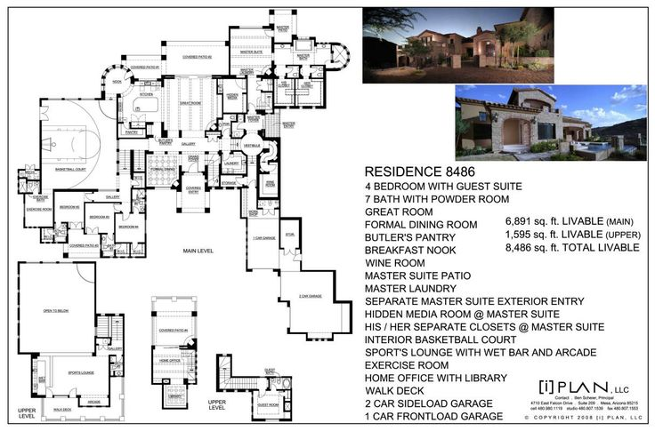 8 best images about luxury home plans 7500 square feet Elevator home plans