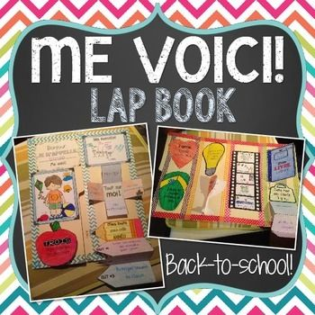 This file includes all the little pieces you need to make an ALL ABOUT ME/TOUT SUR MOI/ME VOICI LAP BOOK in French. This is a great interactive and fun way for students to share information about themselves and introduce themselves to their class at the beginning of the year.