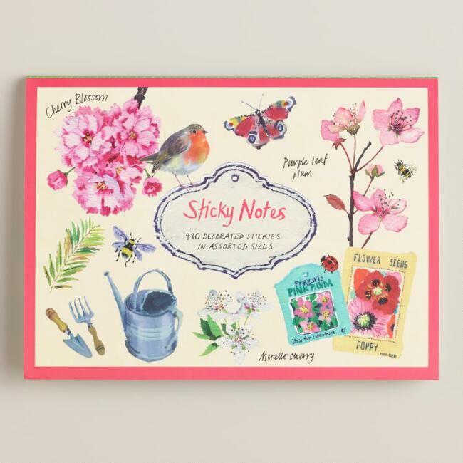 Cherry Blossom Garden Sticky Notes - v1