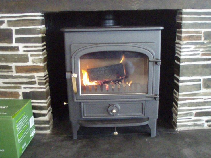 Clearview Vision installed into a traditional slate fireplace.     #clearview #vision #fire #stove #wood #burner #multi #fuel #traditional #slate #freestanding #fireplace #kernowfires #wadebridge #redruth #cornwall