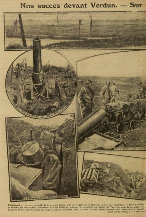 WWI, 5 Nov 1916, French success at Verdun, Excelsior -Gallica