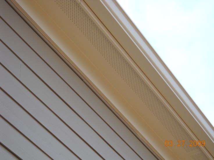 Close Up Of Soffit And Fascia Hardie Khaki Brown New