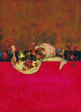 A. Kobzdej, Szczelina między różowym i czerwonym #Polish #Paintings #Art