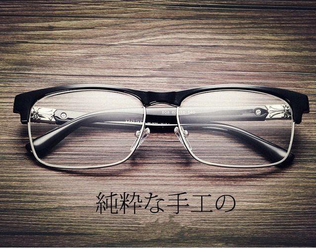 27b7c306dda Latest Trend Matel Metal Cross Eye Glasses Frames For Women UV400 Men  Chrome Retro Eyeglasses W808 Myopia Frame Clear lens
