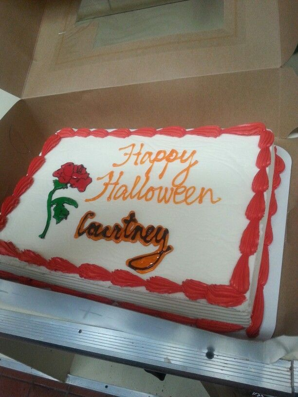 A icecream cake we randomly wanted at work & courtney thought it was Halloween a week to early.
