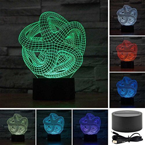 Starfish Creative Creature 3D Acrylic Visual Home Touch Table Lamp Colorful Art Decor USB LED Childrens Desk Night Light 3DTD56 ** Find out more about the great product at the image link.