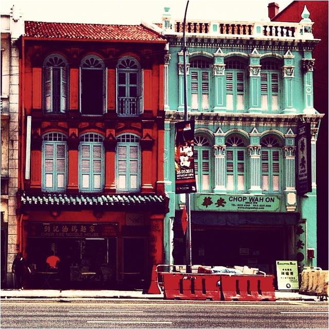 Shophouses, Chinatown, Singapore  April, 2012